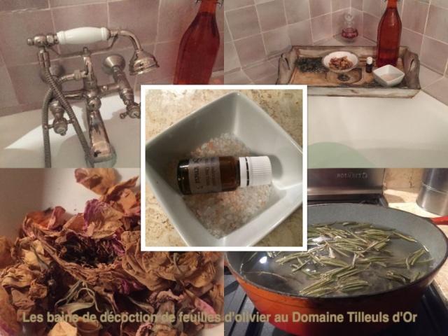 Bain de décoction d'oliviers